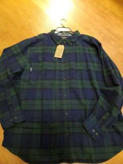 Men's WOOLRICH TROUT RUN Plaid Flannel Cotton Shirt 2XL NEW