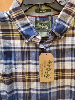 Men's WOOLRICH TROUT RUN Plaid Flannel Cotton Shirt 2XL NEW