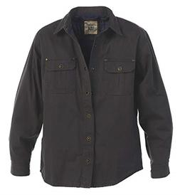 Gioberti Men's Twill Shirt Jacket with Flannel Lining, Charc