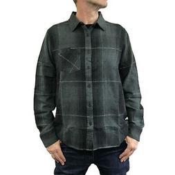 Sullen Men's Vapor Flannel Long Sleeve Buttondown Shirts Bla