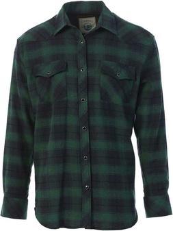 Gioberti Men'S Western Brushed Flannel Plaid Checkered Shirt