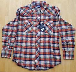 Wrangler Men's Western Flannel Shirt Lightweight, Assorted P