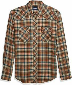 Wrangler Men's Western Lightweight Flannel Shirt