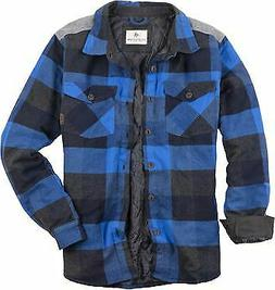 men s woodsman heavyweight quilted flannel shirt
