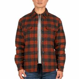 Jachs Men's Wool Blend Flannel Jacket Shirt Quilted Lining L