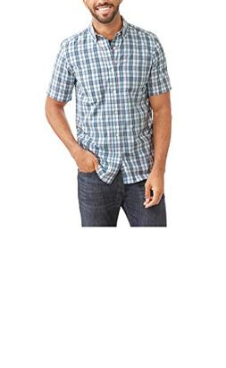 George Men's Wrinkle Resistant Poplin Button Down Short Slee