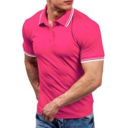 Forthery Men Shirts, Summer Tops Men Casual Slim Fit Short S