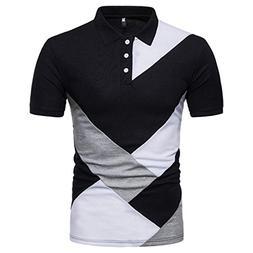 Vovotrade Hot Sale Men's Fashion T Shirt Casual Slim Tops Pa