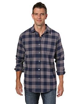 Noble Mount Mens 100% Cotton Flannel Shirt - Gingham Checks-