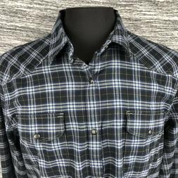 Lucky Brand Mens 2XL Multi-Color Plaid Flannel LS Snap Butto