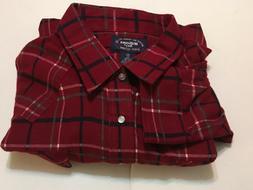 Mens 4XL WILLIAMS BAY Thick Flannel Shirt Red Plaid Brand Ne