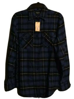 Mens Gioberti Blue Flannel Shirt Size S msrp: $54