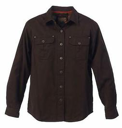 Gioberti Mens Brown Size XXL Flannel-Lining Soft Twill Shirt