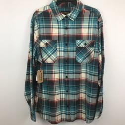 Burton Men's Button Up Flannel Shirt XXL 2XL Durable Goods