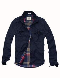 Mens Cali Holi Military  Muscle Fit Flannel Lined Shirt JKT