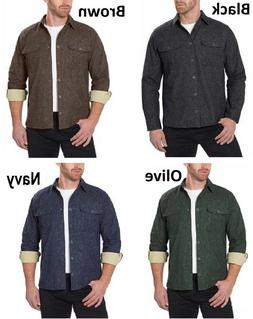 mens chamois heathered flannel warm shirt various