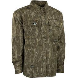 Mossy Oak Mens Camo Chamois Hunt Shirt
