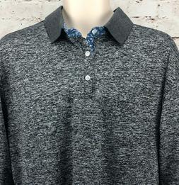 Mens Coofandy slim fit long sleeve shirt M heather gray coll