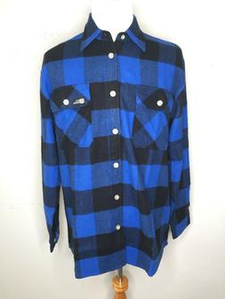 Rothco Men's Extra Heavyweight Flannel Shirt Plaid Blue Bl