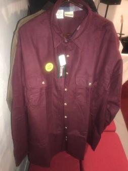 Mens Field & Stream Chamois Flannel Cotton Button Down Shirt