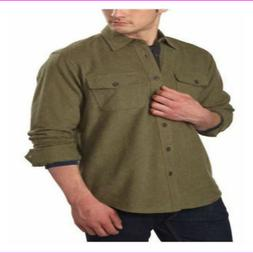 Grizzly Mountain Men's Flannel Chamois Shirt Green L