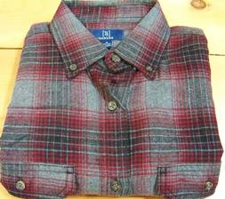 mens flannel long sleeve full button plaid