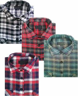 MENS FLANNEL LUMBERJACK CHECK SHIRT COTTON WORK SHIRTS VINTA