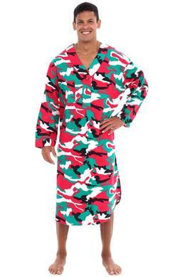 Alexander Del Rossa Mens Flannel Nightshirt, 100% Cotton Lon
