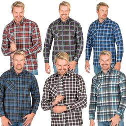Mens Flannel Shirt Brushed Warm Work Casual Lumberjack Shirt