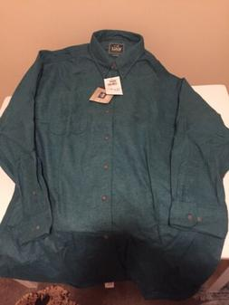 woolrich mens flannel shirt size XL model 6431, artic green
