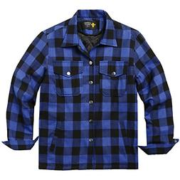 mens flannel thermal lined plaid button down