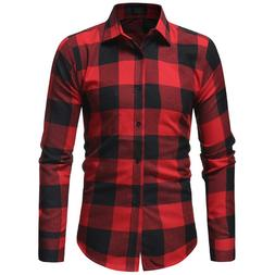 Mens <font><b>Flannel</b></font> Plaid <font><b>Shirt</b></f