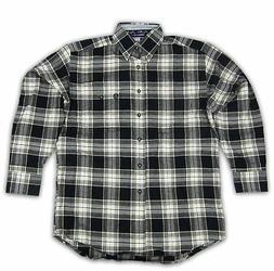 Mens Wrangler George Strait Long Sleeve Flannel Plaid Shirt