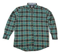Wrangler Mens George Strait Long Sleeve Flannel Plaid Shirt