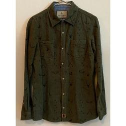 Legendary Whitetails Mens Green Button Down Chamois Flannel