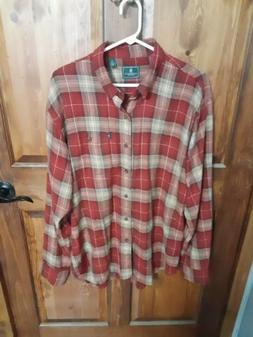 Mens L Flannel Shirt  G.H. Bass & CO.