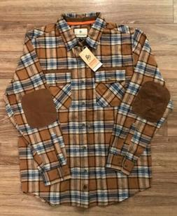 legendary whitetails mens large Barley Feilds Plaid Ling Sle