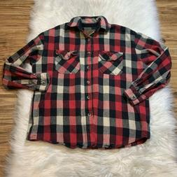 mens large classic long sleeve shirt flannel