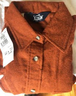 Woolrich Men's Large Rust Cotton Flannel Shirt Beautiful a
