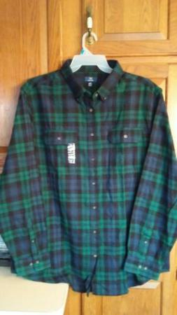 Mens George Long Sleeve Button Down Black Watch Tartan Plaid