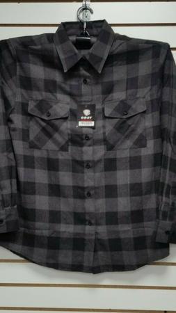 Mens Yago Long Sleeve Button Down Plaid Flannel Collar Shirt
