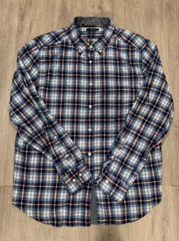 Nautica Mens Long Sleeve Button Up Plaid Flannel Shirt Class
