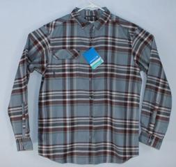 Columbia Mens Medium Omni-Wick Plaid Flannel Long Sleeve But