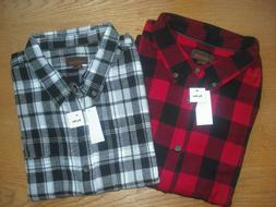 Mens NWT Flannel Shirts SET of 2 BIG TALL Red/Black Lumberja