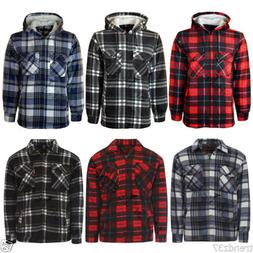 MENS PADDED SHIRT FUR LINED LUMBERJACK FLANNEL WORK JACKET W