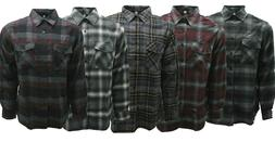 MENS PLAID & BUFFALO CHEXS FLANNEL IN CHARCOAL, BURGUNDY, BL