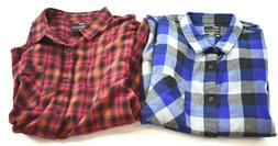 Public Opinion Mens Plaid Flannel Regular Fit Long Sleeve Sh