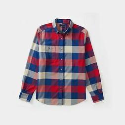 Nautica Mens Plaid Flannel Shirt