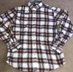 mens plaid flannel shirt medium nwot