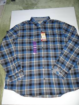 Woolrich Mens Plaid Flannel Shirt XXXL 3XL Lightweight Long